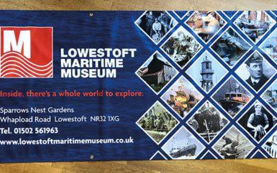 Lowestoft Maritime Museum Eyelet Banner