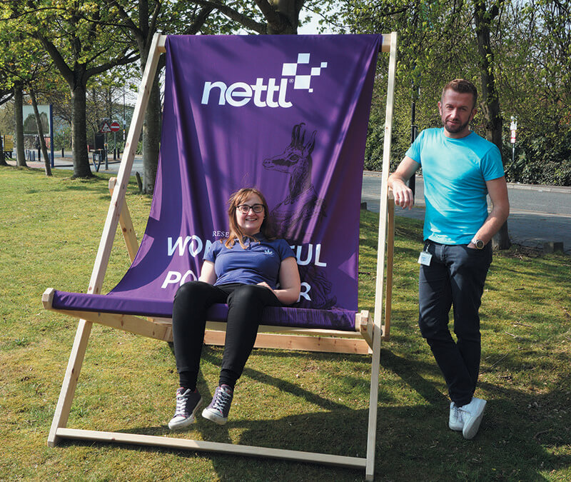 Gigantic Branded Deckchair