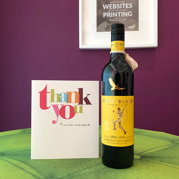 Always nice to receive a thank you