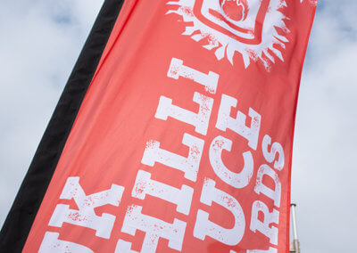 UK Chilli Sauce Awards Feather Flag
