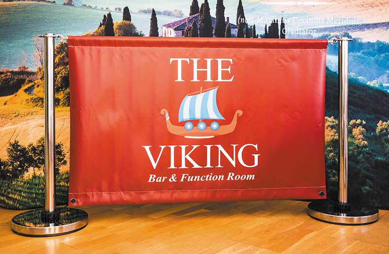 The Viking Café Barriers