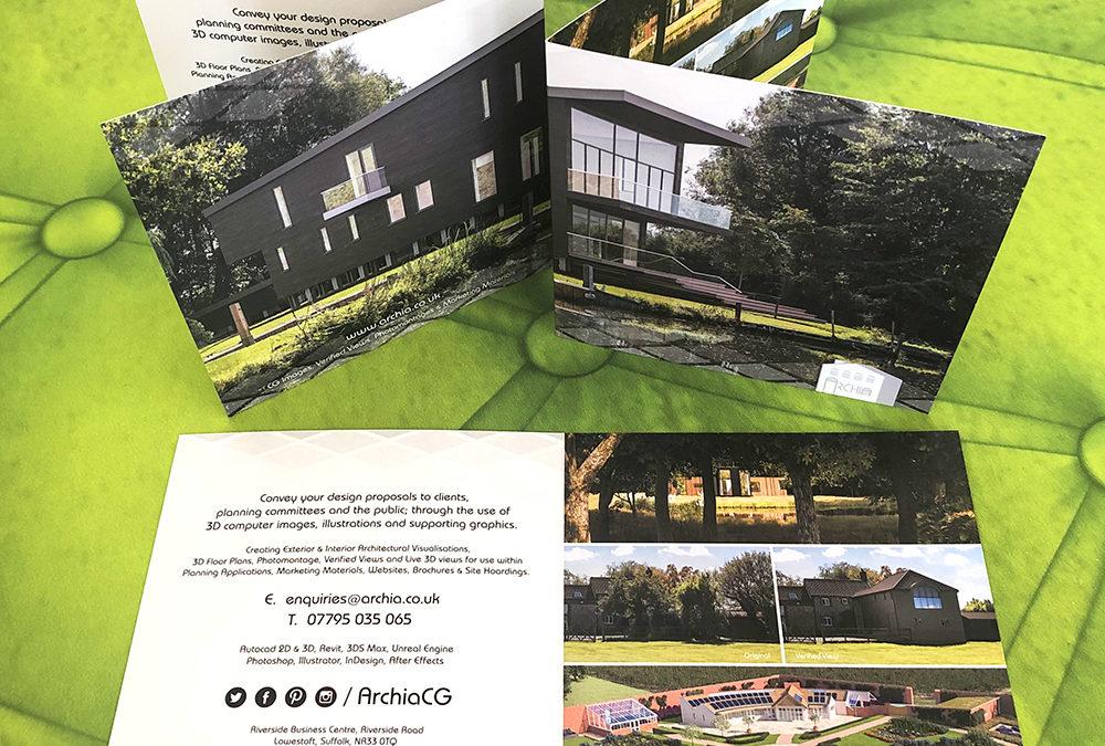 Photograph of Archia folded promo flyers